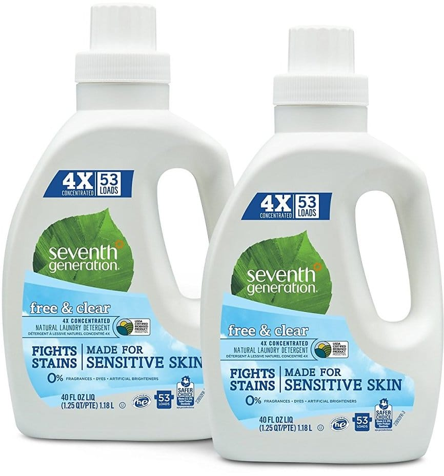 2 Pack Seventh Generation Natural Laundry Detergent Free and Clear Unscented 40 Fl Oz for $13.66 + FS w/ S&S @Amazon