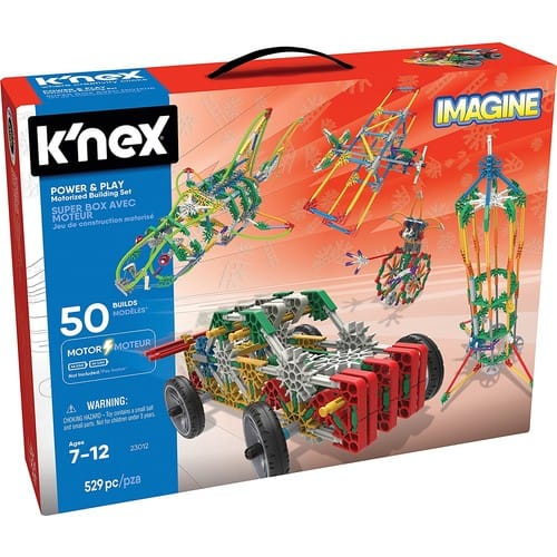 K'NEX Imagine – 529 Pieces Power and Play Motorized Building Set – $22.95