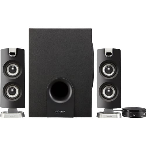 Insignia™ - 2.1 Bluetooth Speaker System (3-Piece) - Black $29.99 - Free shipping @ Best Buy