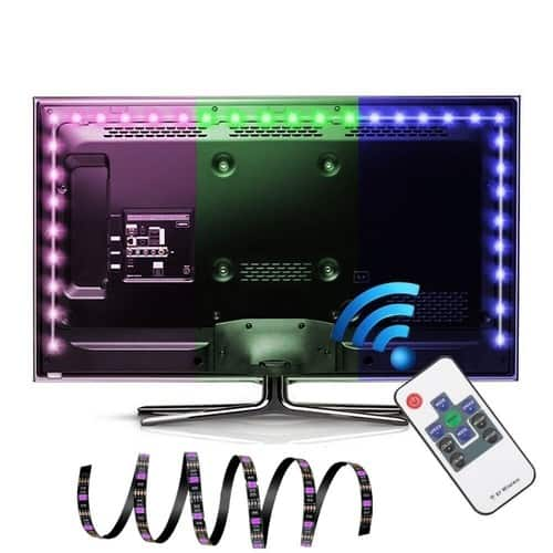 6.5Ft 60Leds LED TV Backlight USB Powered Strip with RF Remote - $6.47 FS w/ Prime at Amazon