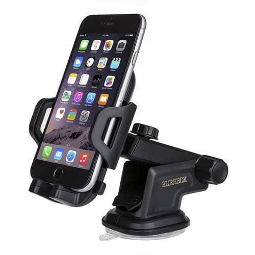 Car Phone Holder Universal Windshield Dashboard Truck Phone Mount Holder $6.99 AC at Amazon