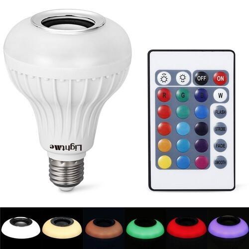 LightMe E27 LED Bulb with Built-in Bluetooth 3.0 Speaker + RGB Light Ball Remote Control for $10.91 @Amazon