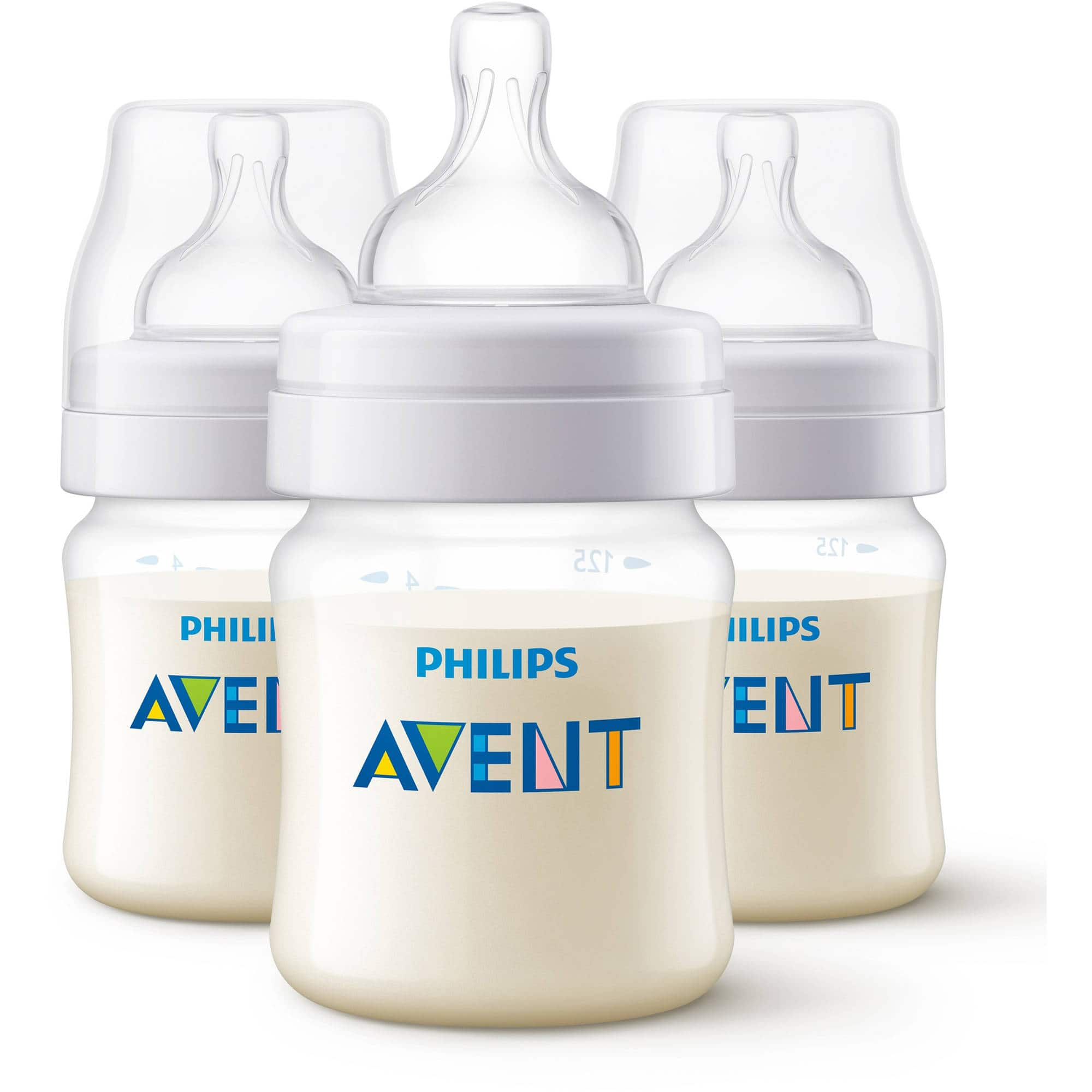 Philips Avent Anti-Colic Baby Bottles - 4oz, Clear, 3ct for $9.59  + Free Store Pickup