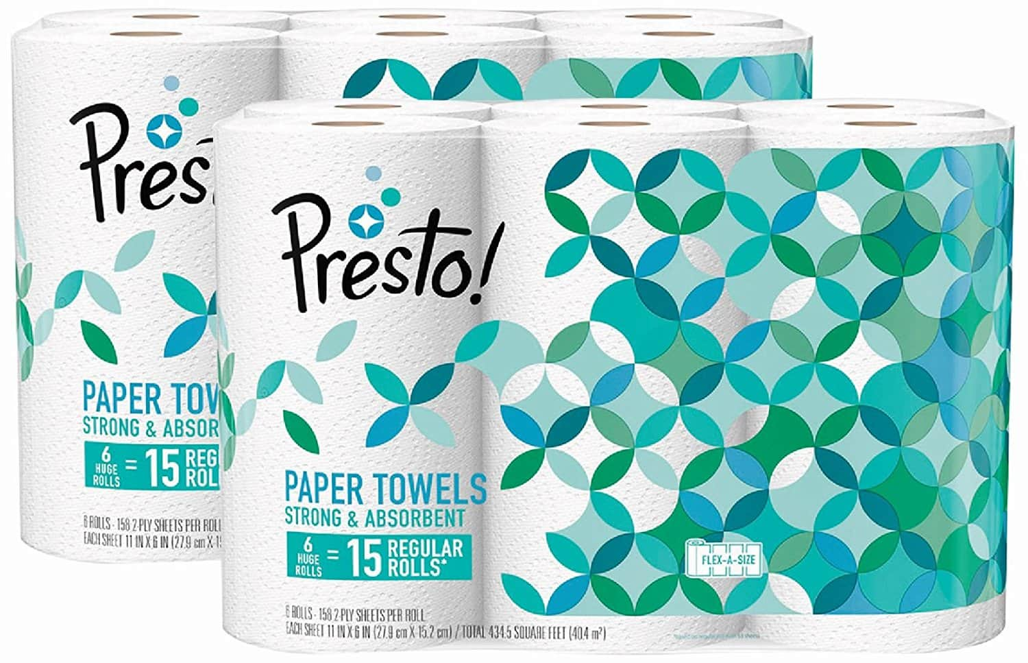 12-Count  Presto Flex-a-Size Paper Towels, Huge Roll for $20.04  + FS