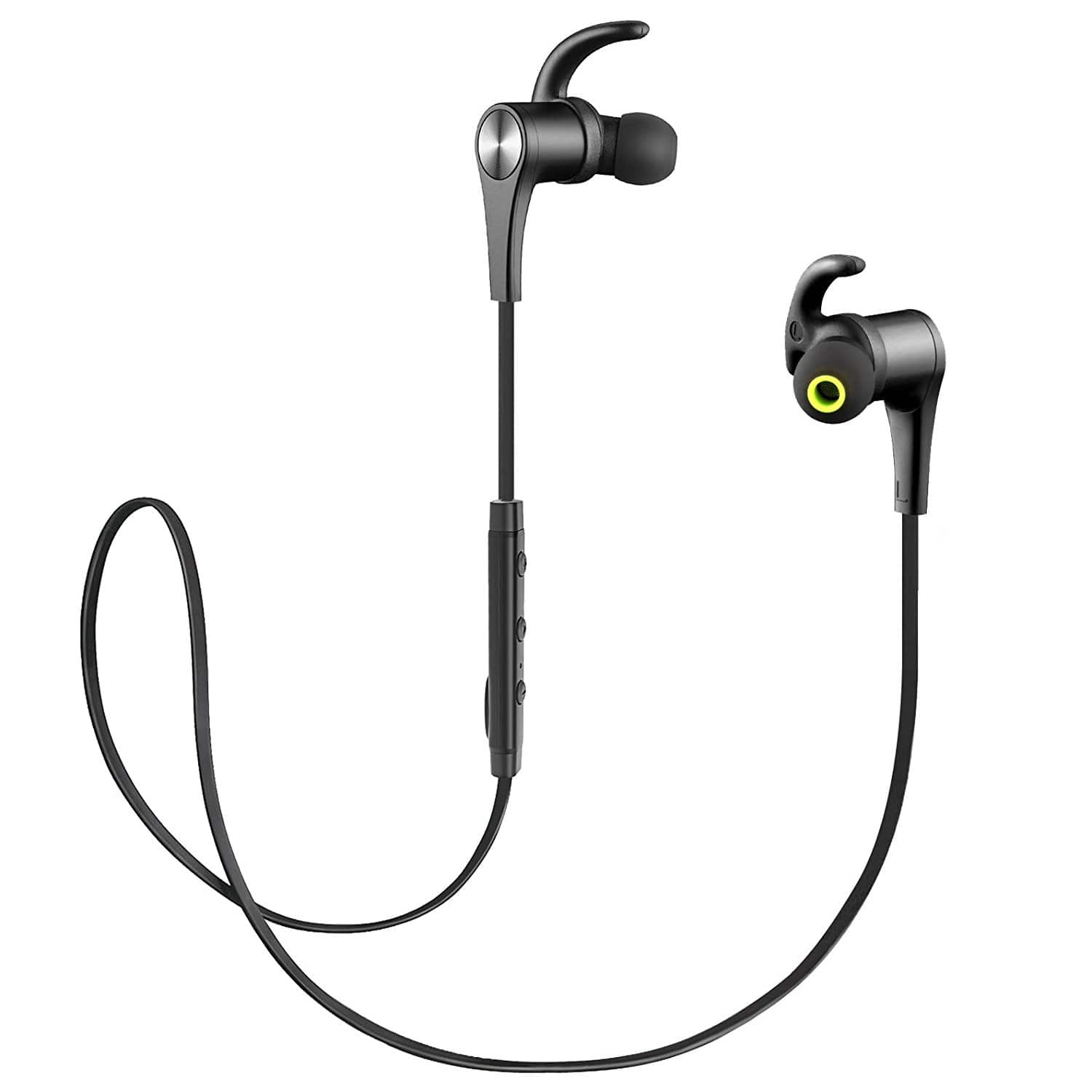 SoundPEATS Q12 Magnetic Wireless Bluetooth Headphones With Mic for Sports Running - $17.84 @Amazon