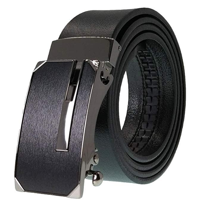 West Leathers Men's Leather Ratchet Dress Belt with Automatic Buckle - $11.70 at Amazon.com