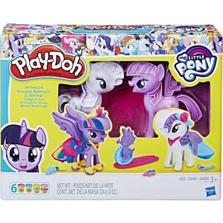Play-Doh My Little Pony Princess Twilight Sparkle + Rarity Fashion Fun & Cutie Mark Creators Set for $6.93 at Walmart