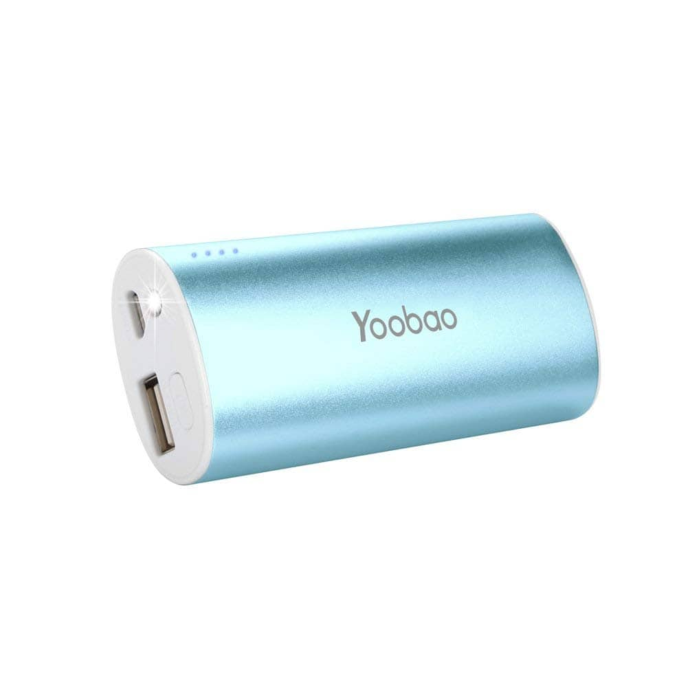 Yoobao 5200 mAh Ultra Compact Portable Charger External Battery Backup Powerbank with Built-in LED Flashlight $6.75