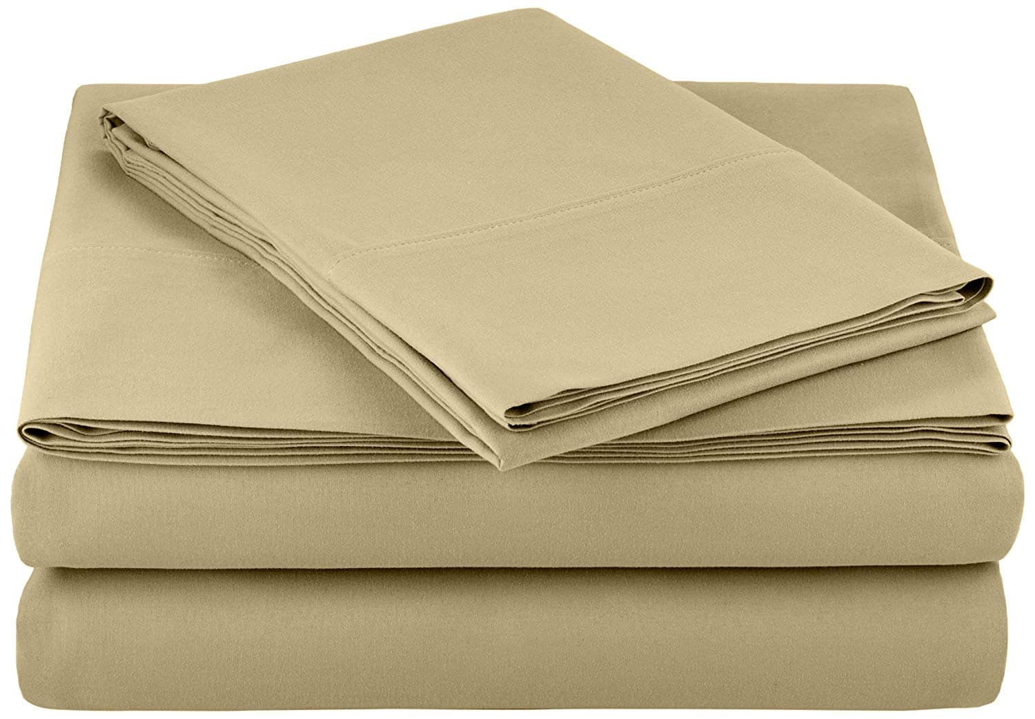AmazonBasics Microfiber Sheet Set(Twin, Olive) for $8.94 @Amazon
