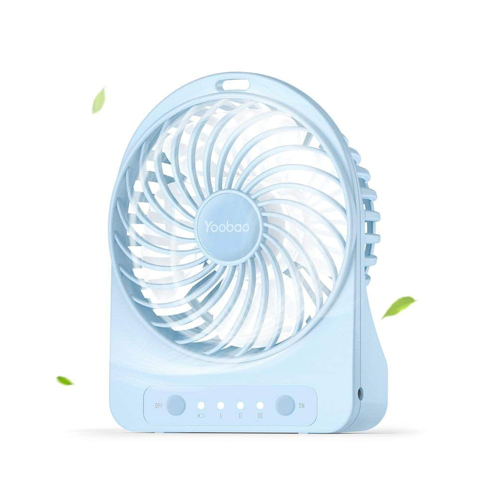 Mini Portable Battery Operated Personal Table Fan with Flashlight (3 Speeds) for $7.49 at Amazon