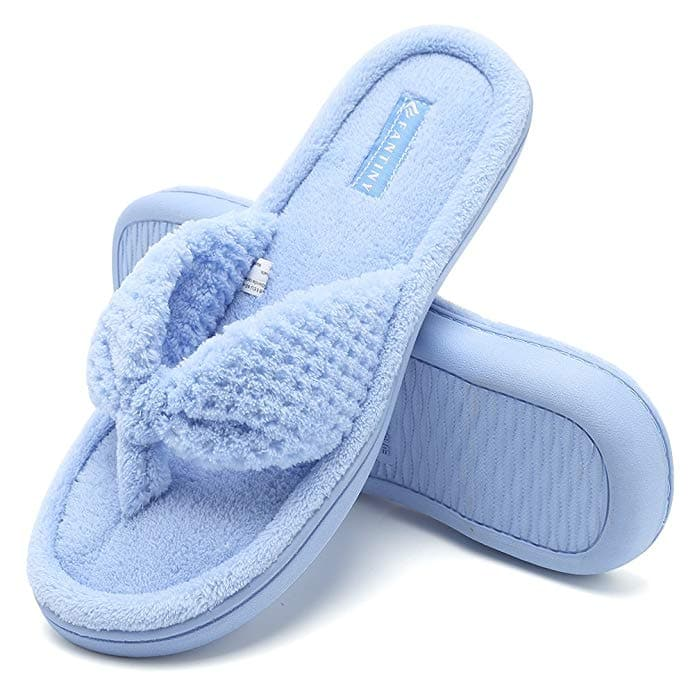 8d094852b Women s Memory Foam Spa Thong House Slippers (various sizes   colors) from   7.94
