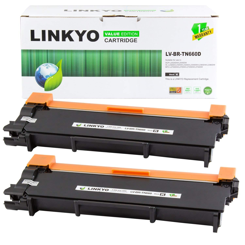 2-Pk Linkyo TN660 Brother Compatible Toner Cartridges (Black) - Page