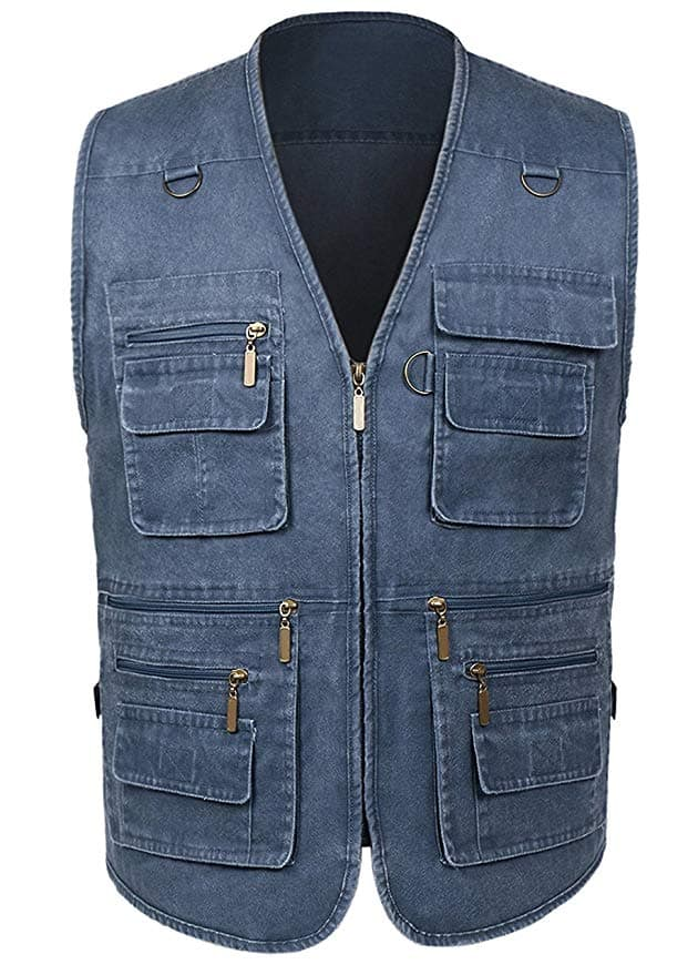 50% Off Men's Summer Outdoor Fishing Vest with Pockets (various colors/sizes) from $12.45 + FSSS
