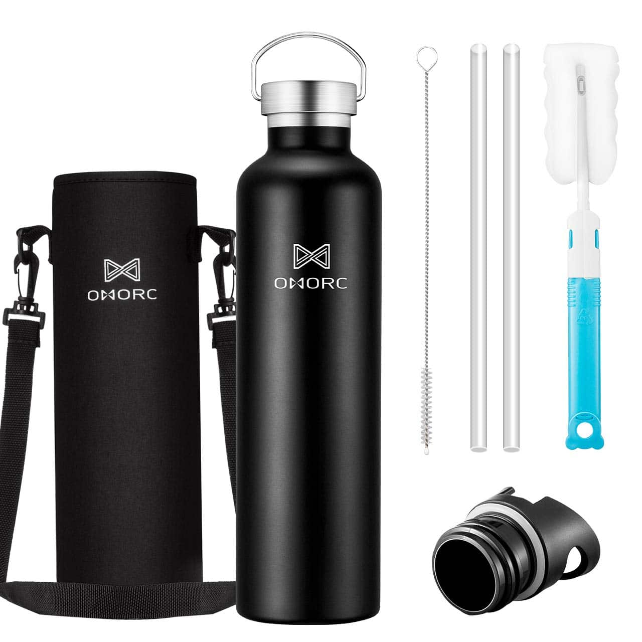 34oz Double Wall Vacuum Insulated Stainless Steel Water Bottle for $13.19 +  FS w/ Prime