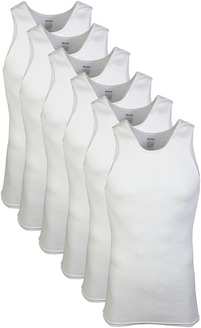 6-Pack Gildan Men's A-Shirts $9 at Amazon