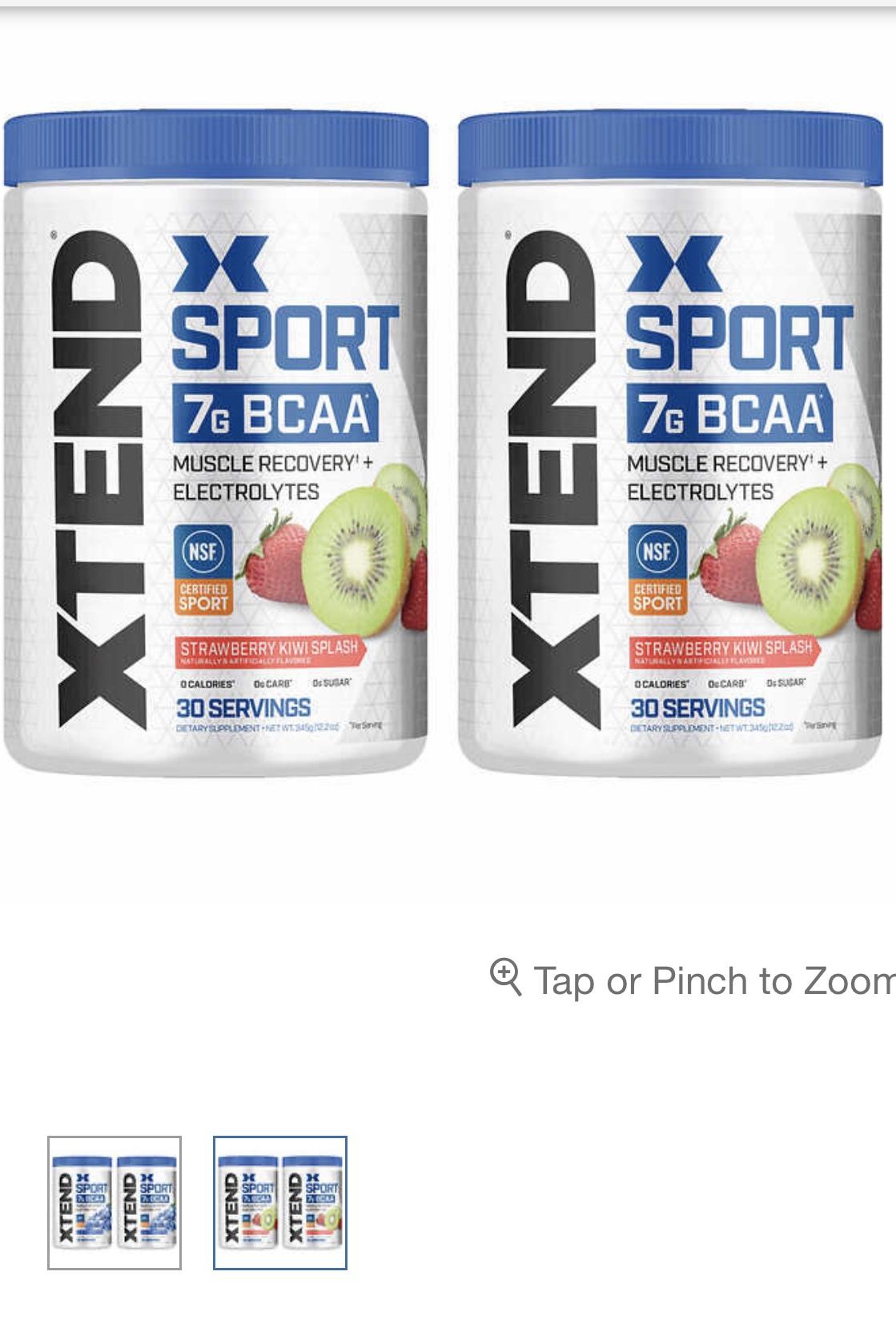 Xtend Sport BCAA  $20 2pk 30 servings