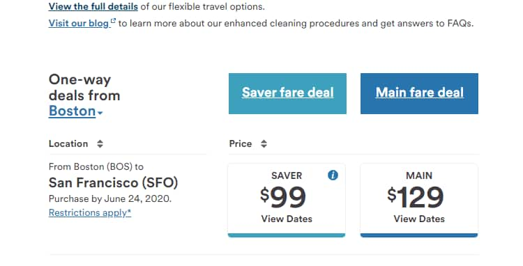Alaska Airlines Boston to San Francisco $99 One way. Two day sale $98.99
