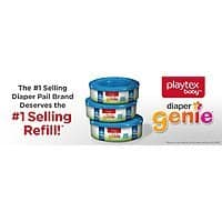 3-Pack of 270-Count Playtex Diaper Genie Refill $  14.79 + Free S/H @Amazon
