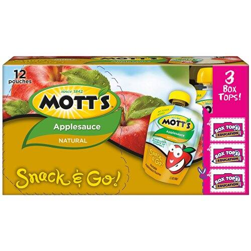 12-Pack of 3.2oz Mott's Snack & Go Natural Applesauce $4.72 Free S&H @Amazon