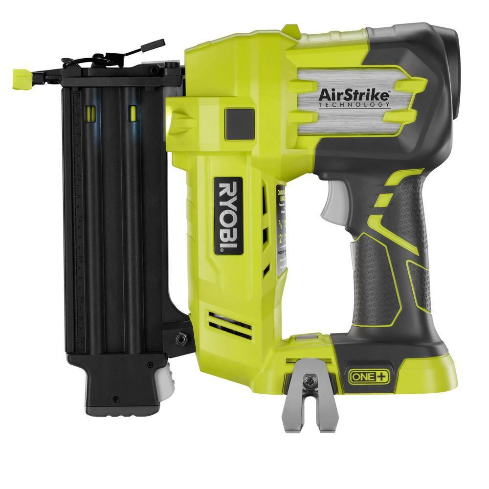 Ryobi 18-Volt ONE+ Lithium-Ion Cordless AirStrike 18-Gauge Brad Nailer with (1) 1.5 Ah Battery and (1) 18-Volt Charger $129 HomeDepot