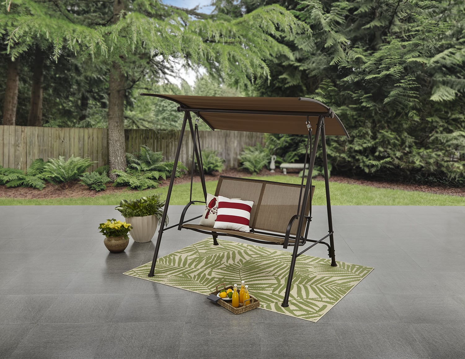 Wm Ymmv Mainstays Two Person Canopy Porch Swing 21 Slickdeals Net