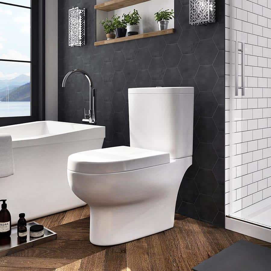OVE Decors Elongated Chair Height 2-Piece Toilet - Lowes BM YMMV - $119