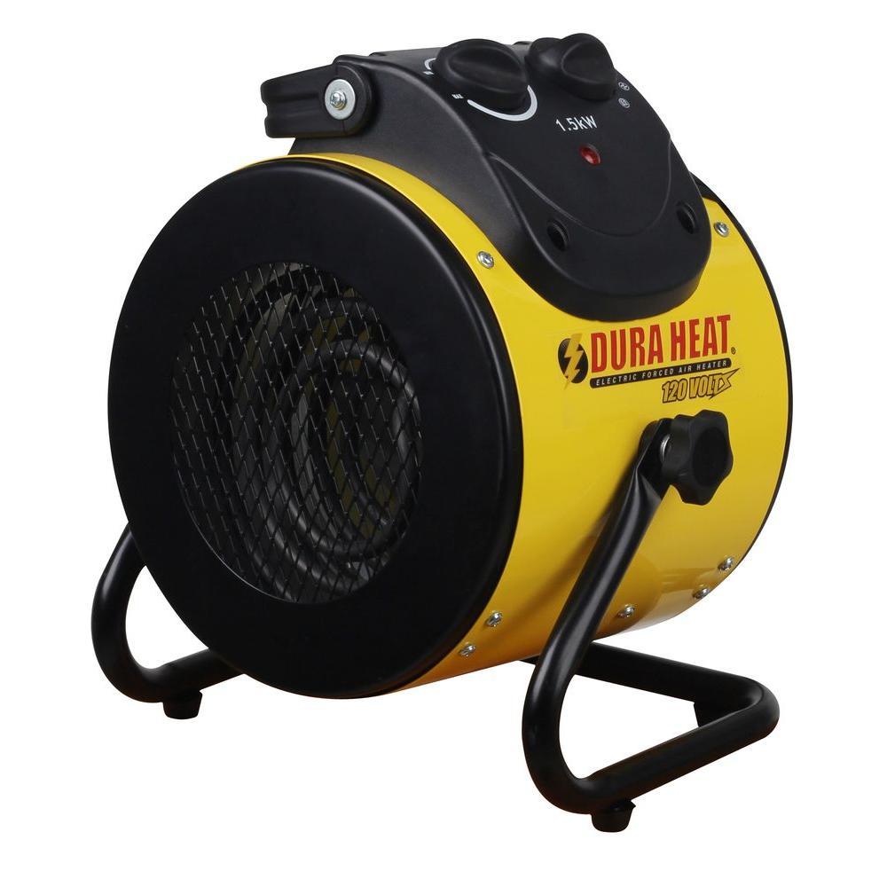 DuraHeat 1,500-Watt 120-Volt Electric Forced Air Heater - Home Depot $15.16