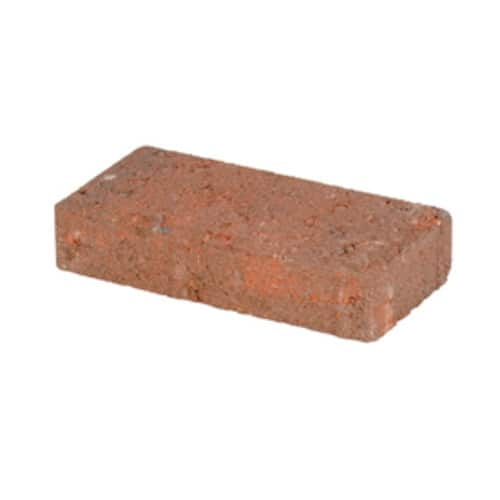 Holland Red/Charcoal Concrete Paver (Common: 8-in x; Actual: 7.75-in x 3.88-in) - $0.25 @ Lowes