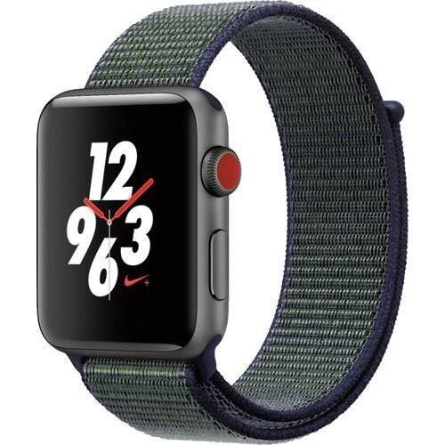 Apple - Apple Watch Nike+ (GPS + Cellular) 42mm Space Gray Aluminum Case with Midnight Fog Nike Sport Loop - Space Gray Aluminum @ Best Buy $329
