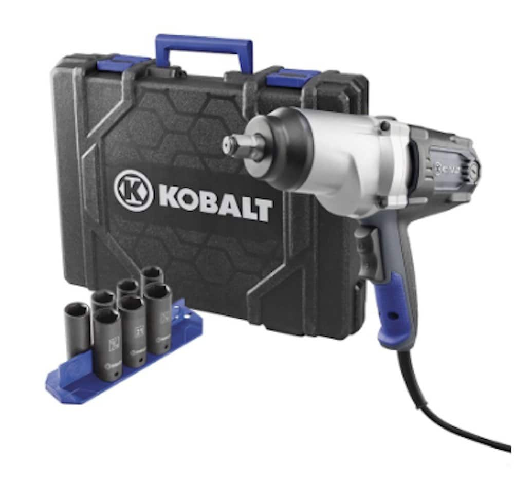 "Kobalt 6904 120-Volt 1/2"" Corded Impact Wrench with 7 Sockets & Hardshell Case - Lowes YMMV $99"