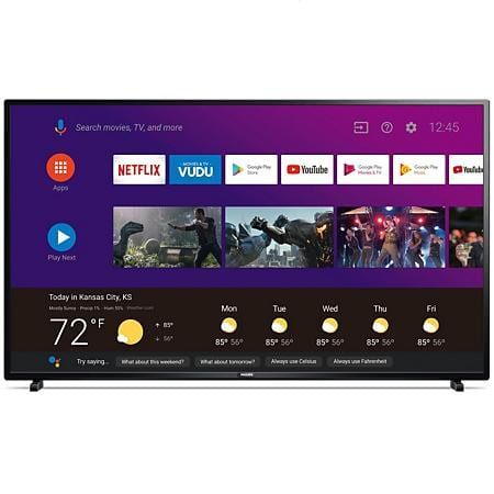 """Philips 55"""" 4K UHD HDR 10 Android TV with the Google Assistant Built in $279"""