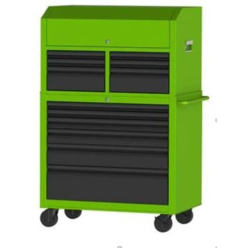 Kobalt 43.6-in W x 63.4-in H 12 Ball-bearing Steel Tool Chest Combo (Green) - Extreme Lowes YMMV $298 - $398 or Less.