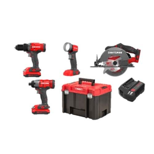 CRAFTSMAN VERSASTACK V20 4-Tool 20-volt Max Power Tool Combo Kit with Hard Case (Charger Included and 2-Batteries Included) @ Lowes for $169 (or $149 w/coupon)
