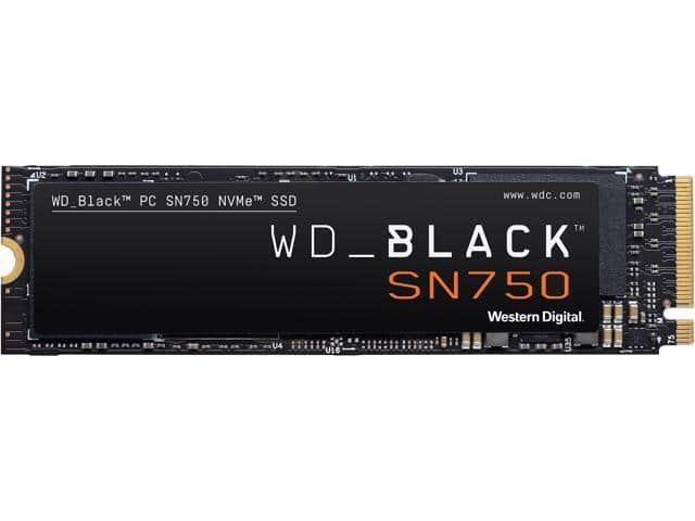 Western Digital WD BLACK SN750 NVMe M.2 2280 1TB SSD - Newegg.com - $119.99
