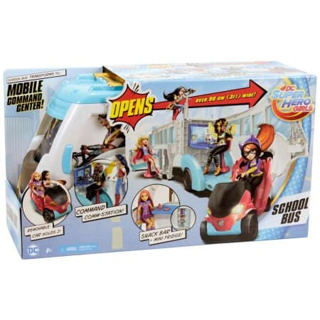 DC Super Hero Girls School Bus Vehicle - $15 B&M YMMV
