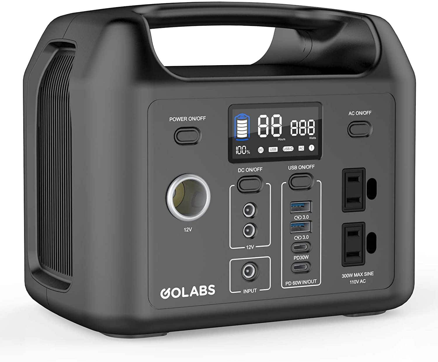 GOLABS Portable Power Station, 299Wh LiFePO4 Battery Backup $199.98