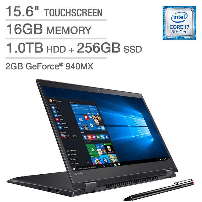 Costco - Lenovo Flex 5 Series 2-in-1 Touchscreen Laptop - Intel Core i7 - 2GB Graphics - 4K Ultra HD - Active Stylus for $999.99