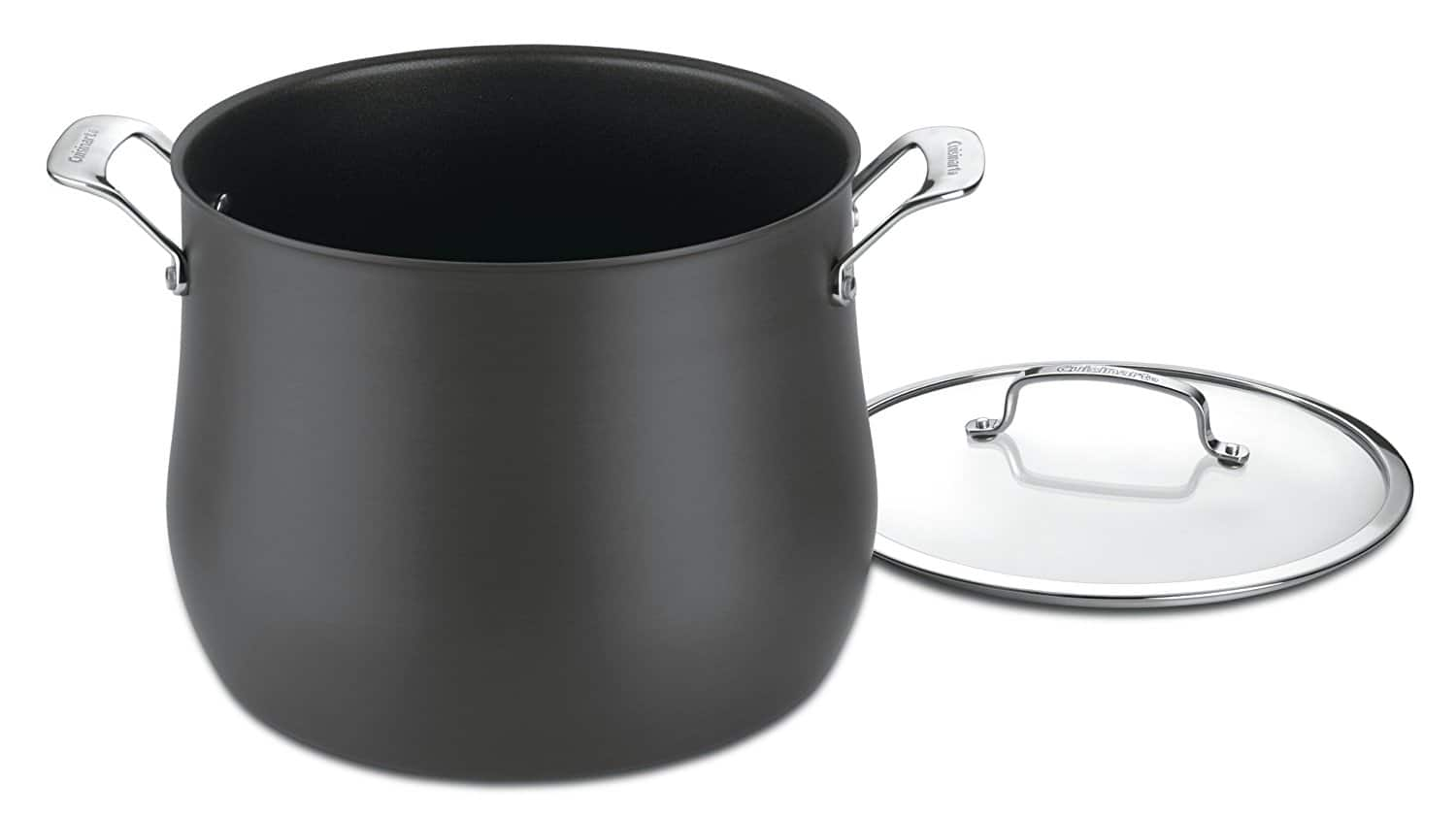 Cuisinart  Contour Hard Anodized 12-Quart Stockpot with Cover $36 @ Amazon