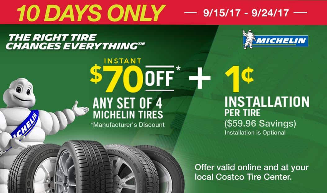 quality design b5829 3753f  130 off Michelin Tires Beginning 9 11 17 ( 70 off Four Tires PLUS · See  Deal