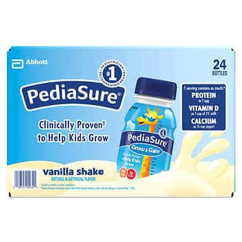 PediaSure Vanilla Shake 8 fl oz, 24-count on sale for $29.49 + free shipping