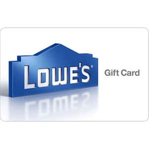 $100 Lowe's Gift Card for only $92 - Email delivery  - Ebay
