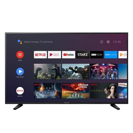 """Sharp 55"""" Class 4K Ultra HD (2160P) Android Smart LED TV with Dolby"""