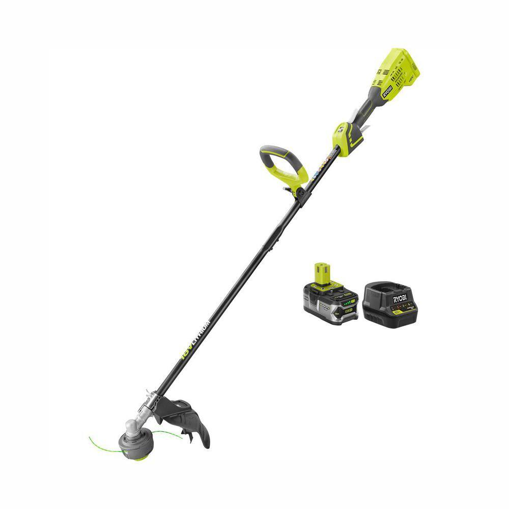 RYOBI ONE+ 18-Volt Lithium-Ion Brushless Cordless String Trimmer - 4.0 Ah Battery and Charger Included $74 at Home Depot YMMV