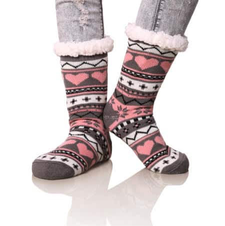 Women's Winter Fleece Knee-High Stockings/Socks (Various Colors) $6.99