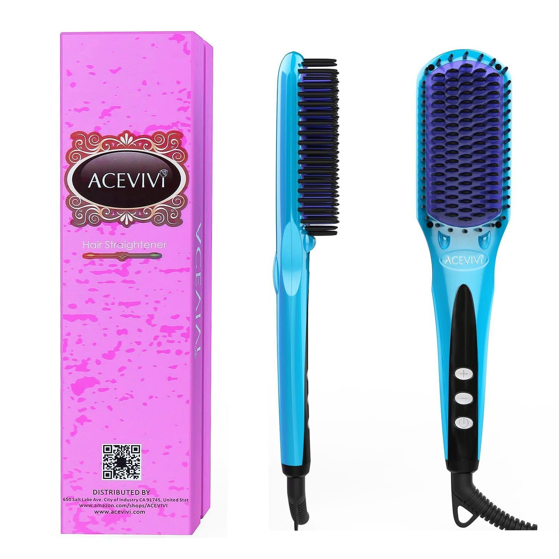 2-in-1 Ionic Hair Straightening Brush 50% OFF $19.79