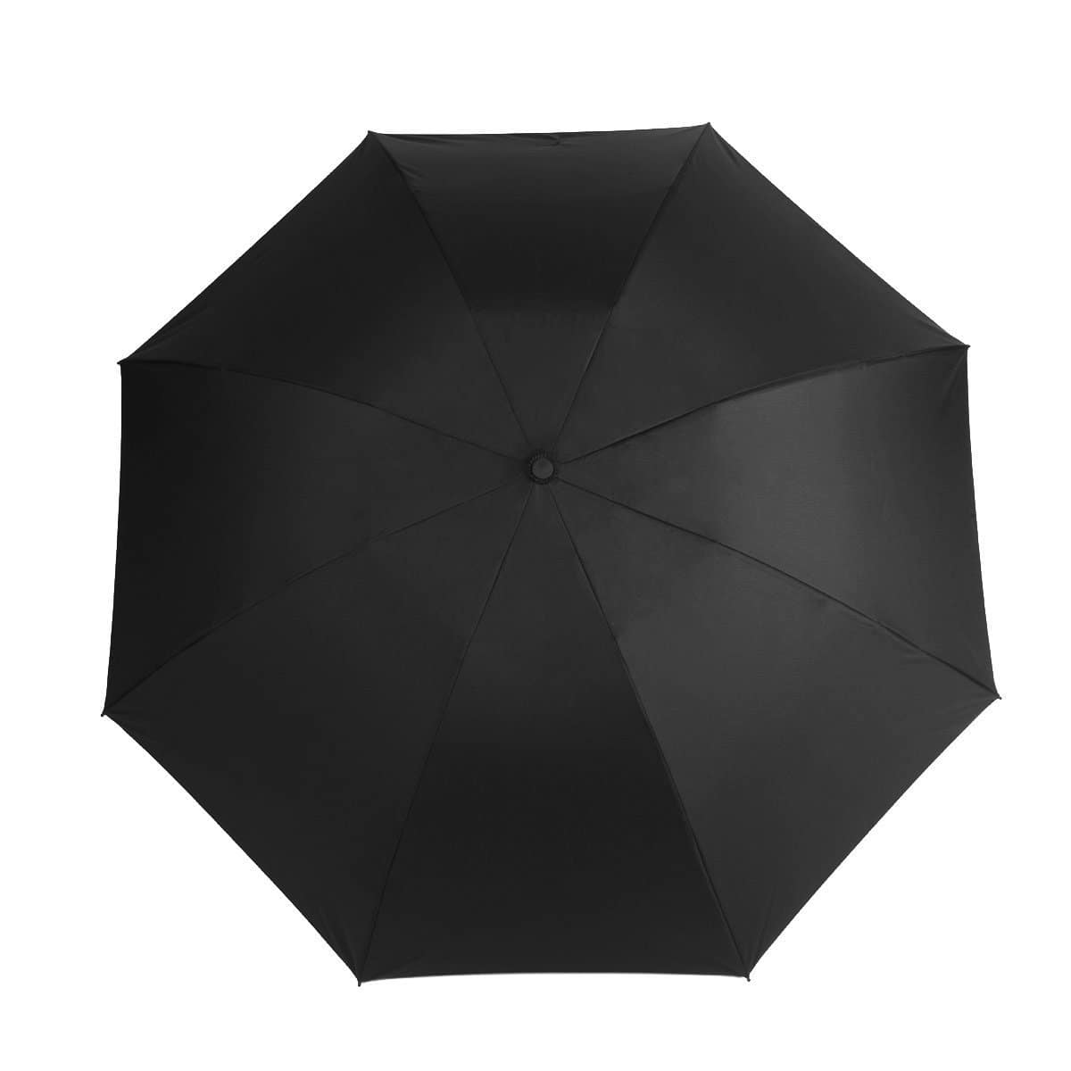"Travel Umbrella: 46.5"" Auto Open/Close with Reverse Folding + Windproof Teflon Technology  [Black] $11.97"