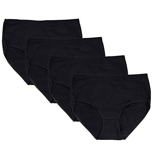 Black Friday Big Deal: Only $9.95 for a 4-Pack of Black Granny Briefs Panties