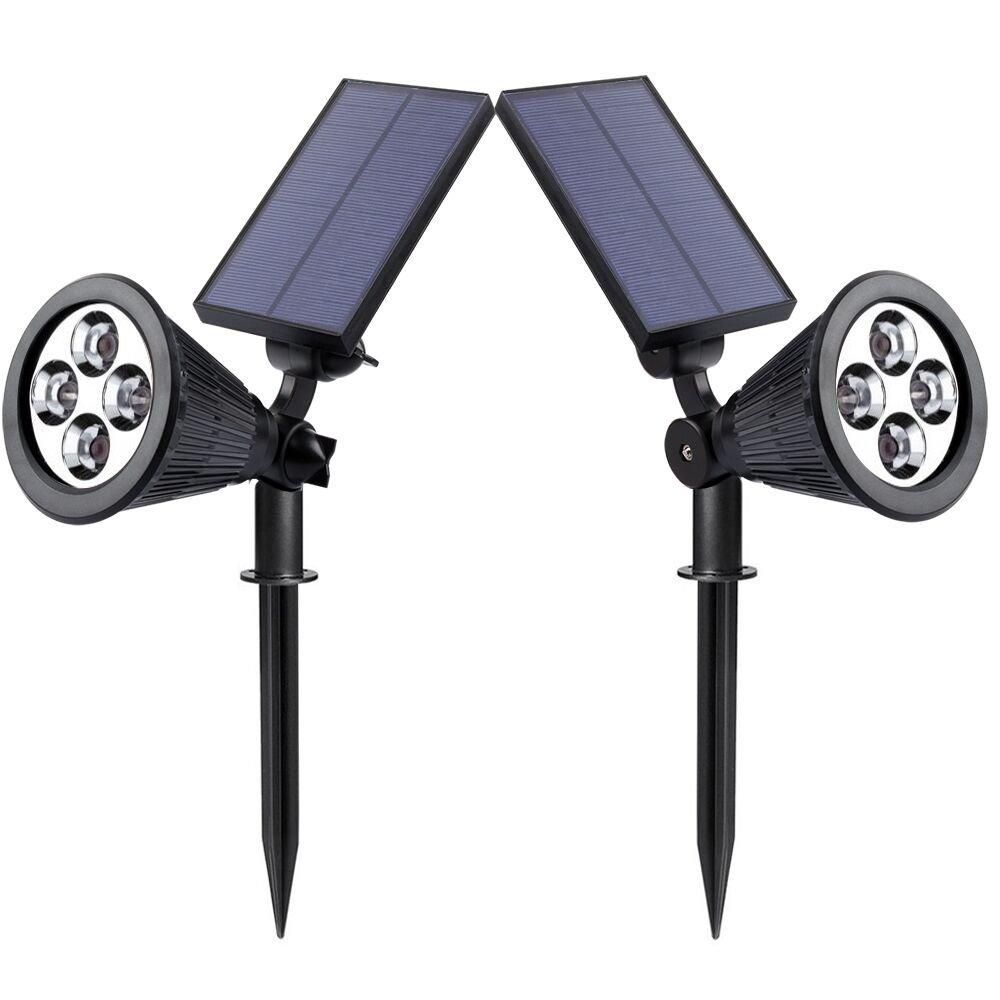 50% Off Solar LED Spotlight/Landscape Lights 2 Pack $11.49