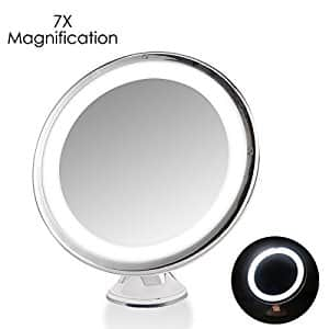 7x Magnifying Makeup Mirror with LED Lighting $9.99