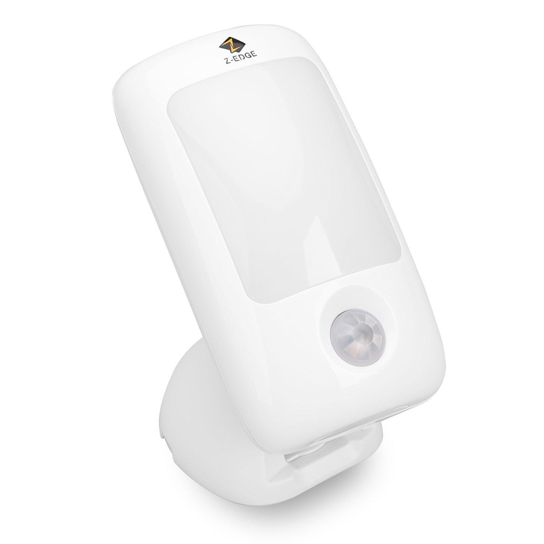 Z-Edge Night Light : Indoor Portable LED Motion Sensor Battery Powered Night Light